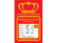 Полотно сетевое Golden Corona, 80х0,25х75х150