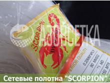 Полотно сетевое SCORPION 90х0,20*4х75х150, скр. леска