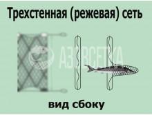 Трехстенка ручной посадки 75х29tex*4/1,5х50м