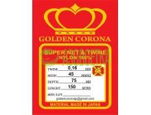 Полотно сетевое Golden Corona, 45х0,16х75х150