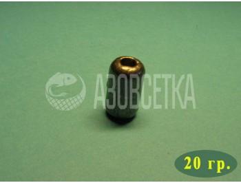 Груз свинцовый (цилиндр) для кастинговых сетей, 20 гр.