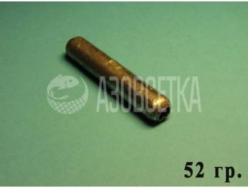 Сетевые грузила (цилиндр) для оснащения орудий лова, 52 гр.