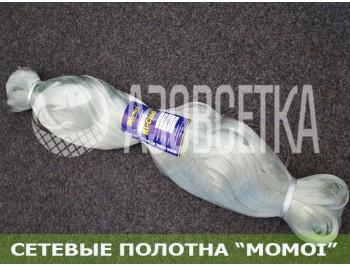 Сетевое полотно Момои из монолески, ячейка 70мм, толщина 0,20мм, высота 75 ячеек