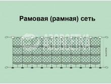 Рамовая лесковая сеть «Crayfish», 90мм*0,25мм*1,8м/30м
